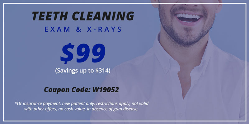 $99 Teeth Cleaning coupon for A Plus Dental in San Diego and Escondido, CA